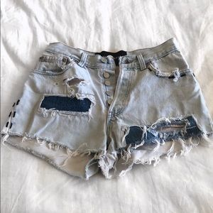 Nasty Gal after party jean shorts